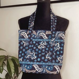 Vera Bradley blue print tote shoulder purse